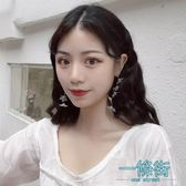韓國氣質冷淡風花朵耳環女