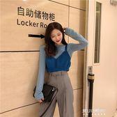 秋裝新款韓版小清新短款背心外穿百搭時尚chic復古純色針織小吊帶   東川崎町