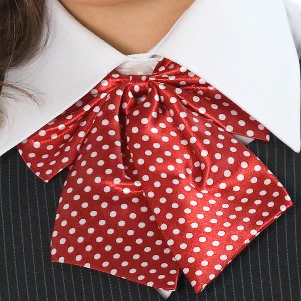 【LG-09】焦點魅力-甜美點綴OL時尚領結(紅底白色小圓點)