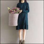 5天出貨★長袖洋裝 百褶荷葉邊連身裙★ifairies【42442】