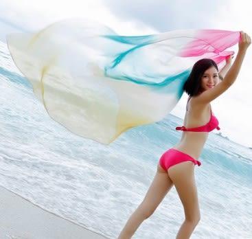 [協貿國際]  女士夏季雪紡絲巾披肩圍巾 (1入)