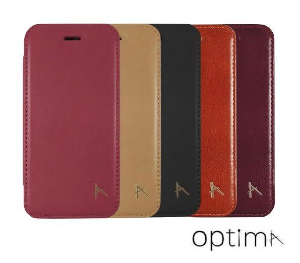Optima iPhone 7 Plus 5.5吋 側掀 可站立型 質感 皮套 真皮系列 五色