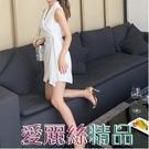 白色洋裝西裝洋裝夏名媛職業早秋氣質女神範衣服性感小心機黑裙LX 愛麗絲