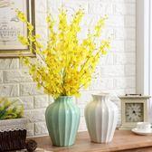 北歐美式陶瓷插花花瓶歐式簡約客廳干花器復舊懷舊家居裝飾品擺件 青木鋪子