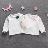 聖誕好物85折 寶寶純棉打底衫春秋1-3歲嬰兒公主上衣薄~