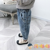 兒童牛仔長褲男寶寶韓版褲子休閒百搭長褲【淘嘟嘟】