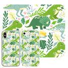 ㊞【花草恐龍客製化】-磨砂加厚全包軟殼/玻璃背板全包硬殼 iPhone多型號訂製 Unicorn手機殼