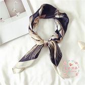 小方巾絲巾韓國領巾正韓頭巾圍巾兩用飾文藝多功能