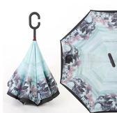 直立傘長柄雨傘反向傘雙層免持式男女晴雨兩用傘創意汽車反開傘 igo 全館免運