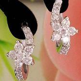 925純銀耳環 鑲鑽(耳針式)-經典優美生日聖誕節禮物女飾品73ao122【巴黎精品】