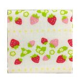 AKACHAN阿卡將 雙層(紗布+毛巾)30x30手帕-草莓