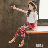 短袖女童套裝夏裝2019年新款兒童超洋氣時髦兩件套夏季大童童裝潮 LR5988【原創風館】
