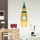創意時鐘壁貼 牆貼 背景貼 時尚組合壁貼 璧貼 磁磚貼 英國大笨鐘【YV0026】BO雜貨