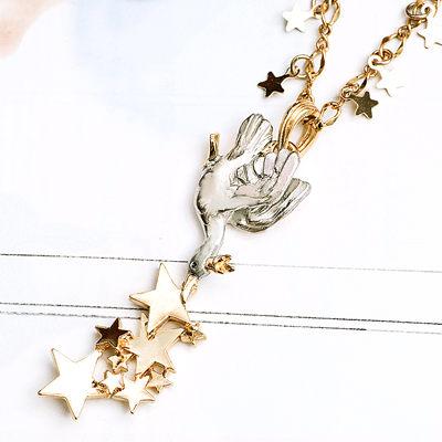 〔APM飾品〕日本Palnart poc 閃爍星雲神采白鴨項鍊