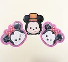 【震撼精品百貨】Micky Mouse_米奇/米妮 ~Q版貼紙-3入-米奇米妮