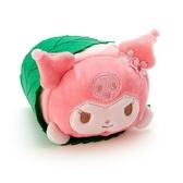 〔小禮堂〕酷洛米 迷你和菓子絨毛玩偶娃娃《粉綠.櫻花》擺飾.玩具 4901610-20099