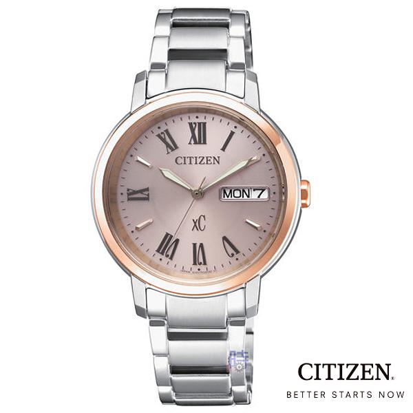 CITIZEN/星辰 (EW2424-50Y) 光動能 防水 時尚 女錶/32.5mm