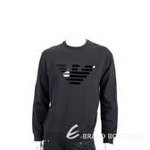 Emporio Armani 膠片老鷹標誌黑色棉質運動衫(男款) 1920702-01