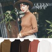 Queen Shop【01096116】基本款素面小立領磨毛上衣 五色售*現+預*