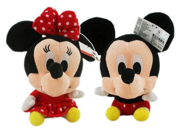 【卡漫城】 米奇米妮 Q版 玩偶 兩隻一組 ㊣版 Mickey 米老鼠 Minnie 米奇妙妙屋 情侶 絨毛 娃娃