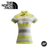【The North Face 女 LOGO短袖POLO衫 哈瑪奇黃 】NF00CZR7/短袖/排汗衣