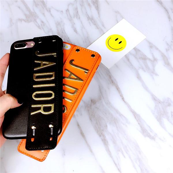 88柑仔店~蘋果7plus手機殼紫腕帶iphone6s皮套潮牌大氣7p女創意個性軟殼