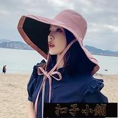 日系防曬遮陽防紫外線遮陽漁夫帽女雙面可折疊夏季百搭出游太【全館免運】