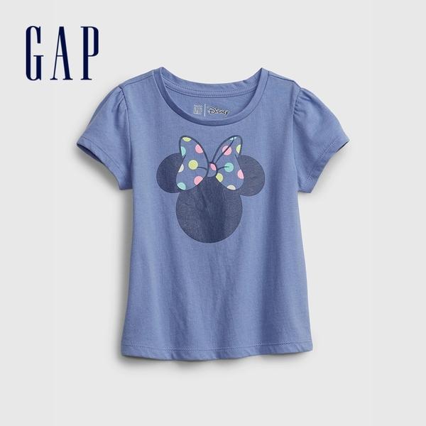 Gap女幼童 Gap x Disney 迪士尼系列聯名 純棉短袖T恤 682072-藍色