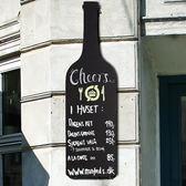 售完即止-美式鄉村風格掛式小黑板創意酒瓶造型酒吧會所酒莊KTV壁掛裝飾11-1(庫存清出T)