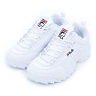 FILA DISRUPTOR 2 中性復古運動鋸齒鞋 - 白 4C608S125