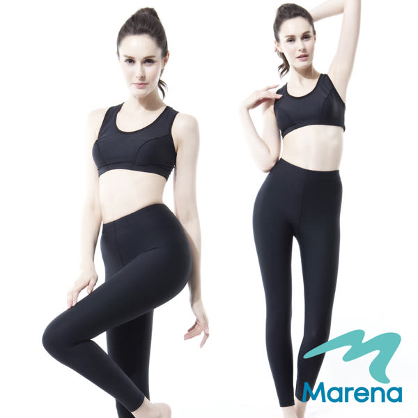【美國原裝MARENA】魔力輕塑中腰九分塑身褲/顯瘦機能內搭褲