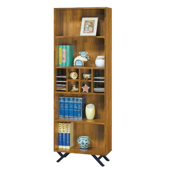 【采桔家居】安樂利 時尚2尺木紋書櫃/收納櫃