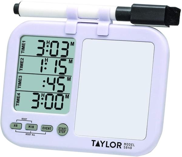 [2美國直購] 計時器附白板 Taylor Precision 5849 Products (Regular) Taylor Four-Event Digital