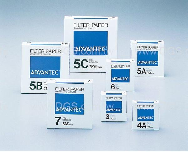 《ADVANTEC》定量濾紙 NO.5A Quantitative Filter Paper, NO.5A