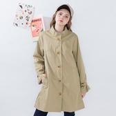 【中大尺碼】簡約長版風衣外套