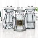 花瓶 北歐玻璃插花瓶透明干花創意客廳插花水養玫瑰百合家用【快速出貨八折下殺】