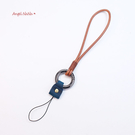 真皮手機掛繩-復古文青頭層牛皮瘋馬皮復古相機手機短繩手繩AngelNaNa (SMA0316)