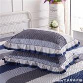 一對裝夾棉加厚枕套純棉全棉枕芯罩枕頭套成人100%單人用大號枕皮艾美時尚衣櫥