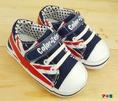 街頭英倫風 休閒帆布鞋 學步鞋《7+1童鞋》C515藍色