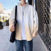 襯衫男 港風2019秋季新款長袖襯衫正韓潮流帥氣寸衫潮牌寬鬆襯衣男士外套 尾牙交換禮物