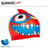 【Speedo】幼童矽膠造型泳帽 Sea Squad - 鯊魚紅 (適用2-6歲兒童) SD808769B362