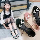女童涼鞋2020夏季新款時尚公主女孩中大童小學生韓版高跟兒童涼鞋 米娜小鋪