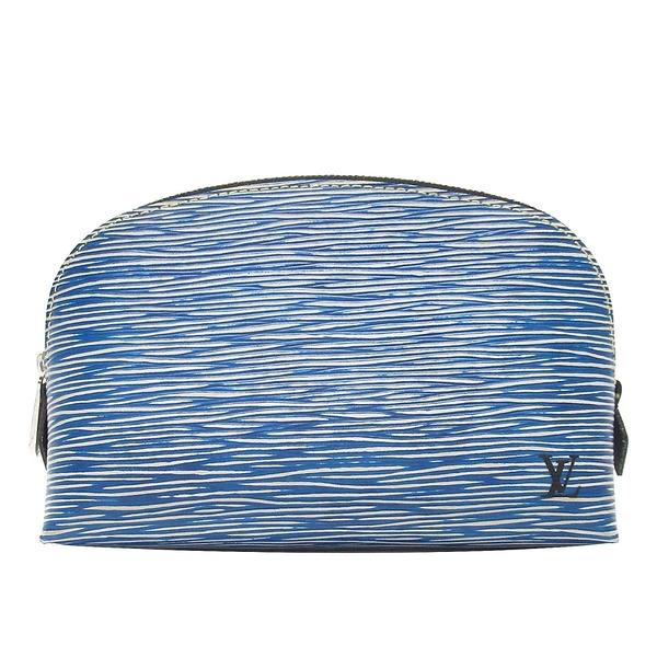 LOUIS VUITTON LV 路易威登 牛仔藍木紋EPI化妝包 Cosmetic Pouch M54655【BRAND OFF】