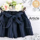(大童款-女)綁帶線條雪紡褲裙-物超所值...