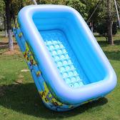 超大遊泳池嬰幼兒童充氣泳池大型加厚家用小孩大號泳池兒童玩具池WY