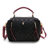 PLAYBOY- 手提包附長背帶 緋紅愛戀系列 -黑色