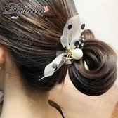 髮束 現貨 韓國熱賣甜美手作復古喜歡蝴蝶結珍珠鑽石造型電話線髮束 S7784 (5色) Danica 韓系飾品