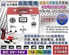 【久大電池】麻聯電子 P16-6A 2V~16V 6A 超耐用型微調式充電機.可充各式鉛酸電池~免運費~