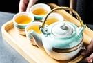 【堯峰陶瓷】日式 綠如意系列 一壺兩杯(1個大號藤把壺2個小酒杯)大容量 套組餐具系列  堯峰陶瓷