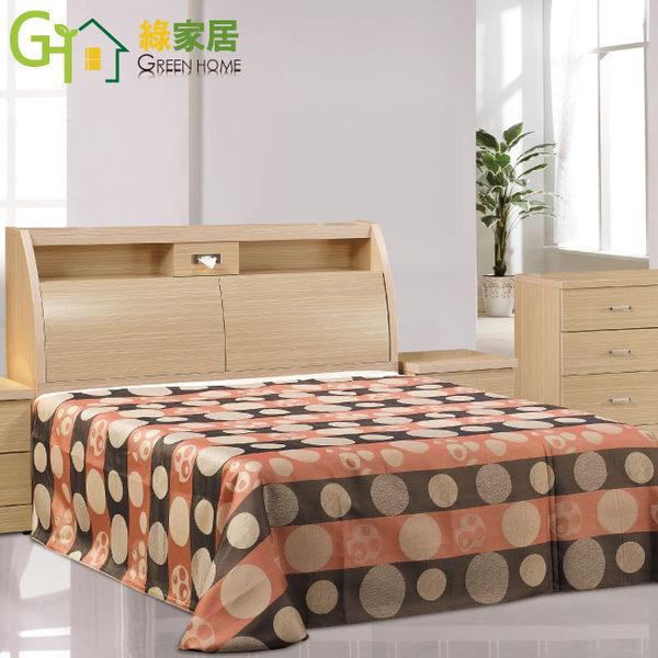 【綠家居】賽琳娜 白橡色5尺雙人床台(床頭箱+床底不含床墊)